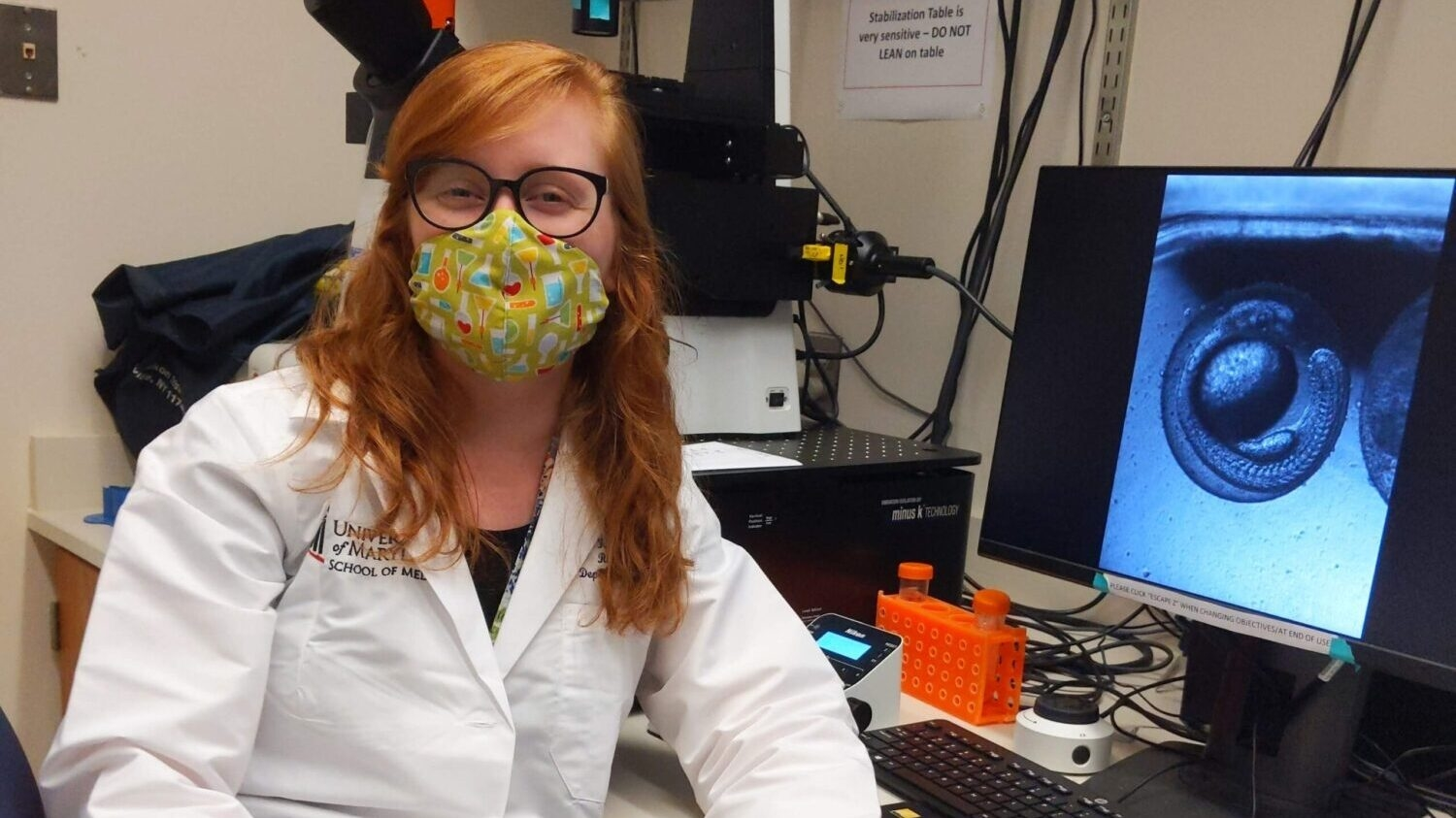 Goodnight Scholar Alum, Hadley Bryan, in University of Maryland Lab