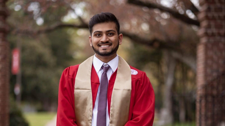Spring 2021 BioSci graduate Dhuru Patel